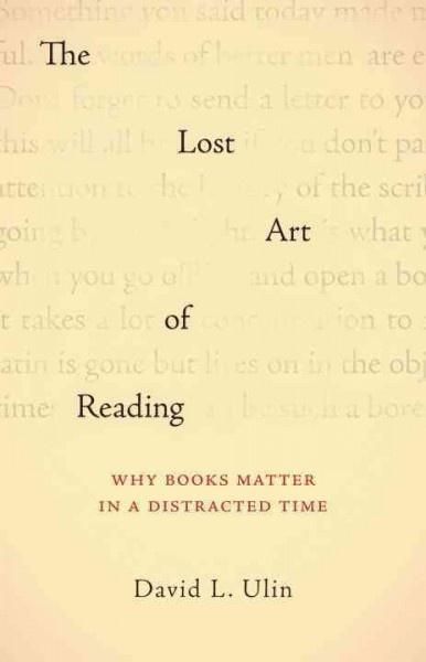 big lost art of reading